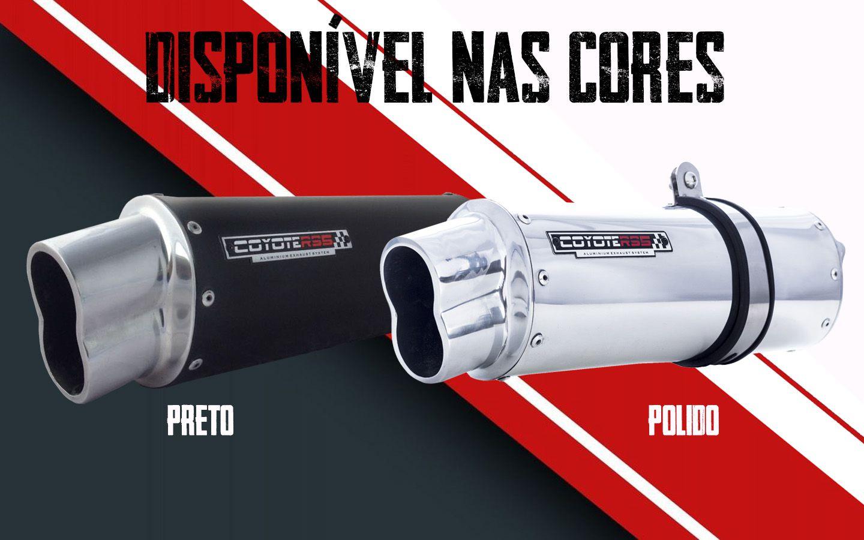 Escape / Ponteira Coyote RS5 Boca 8 Aluminio Oval - CB 500 1997 até 2005 - Honda