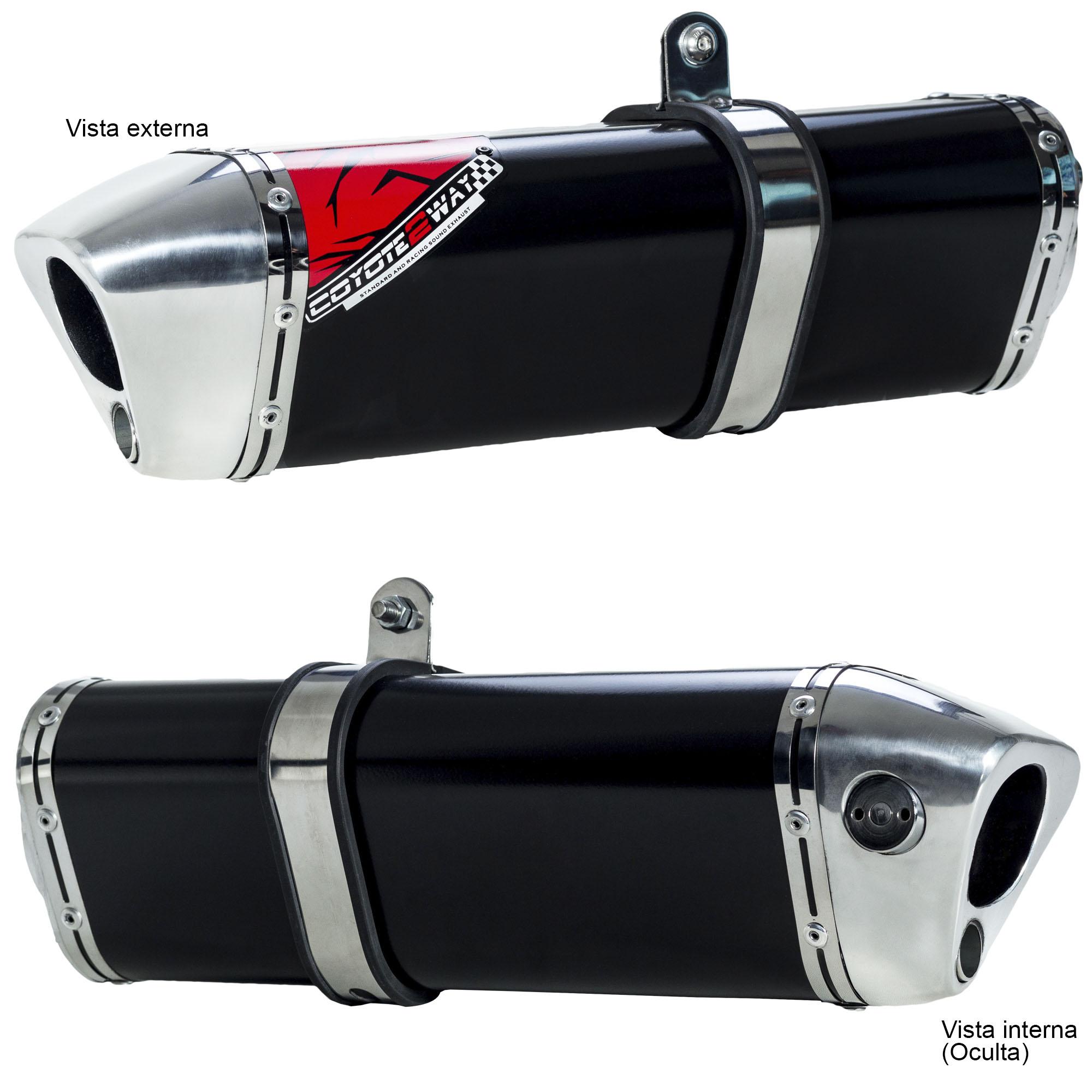 Escape / Ponteira Coyote TRS 2 Way Alumínio - PCX 150 - Honda