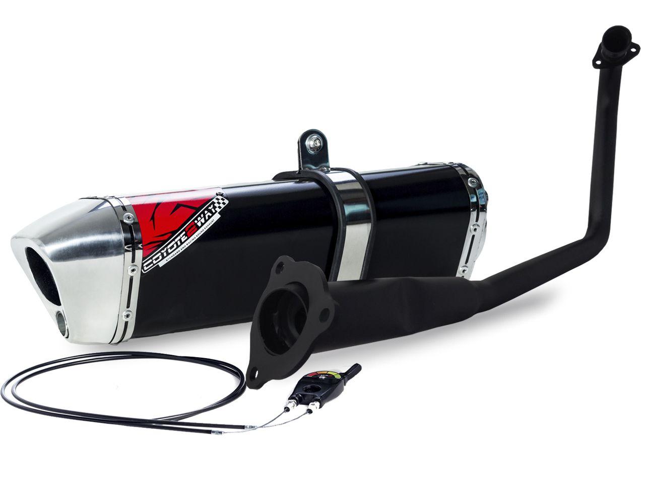 Escape / Ponteira Coyote Modelo TRS 2 Way + Mais em Alumínio - CG 160 Fan / Start até 2017 (Exceto Titan 160) - Honda