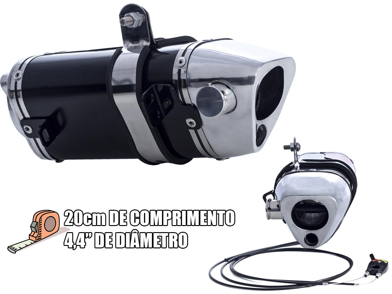 Escape / Ponteira Coyote TRS 2 Way + Mais JUNIOR 20cm em Alumínio - ADV 150 - Honda