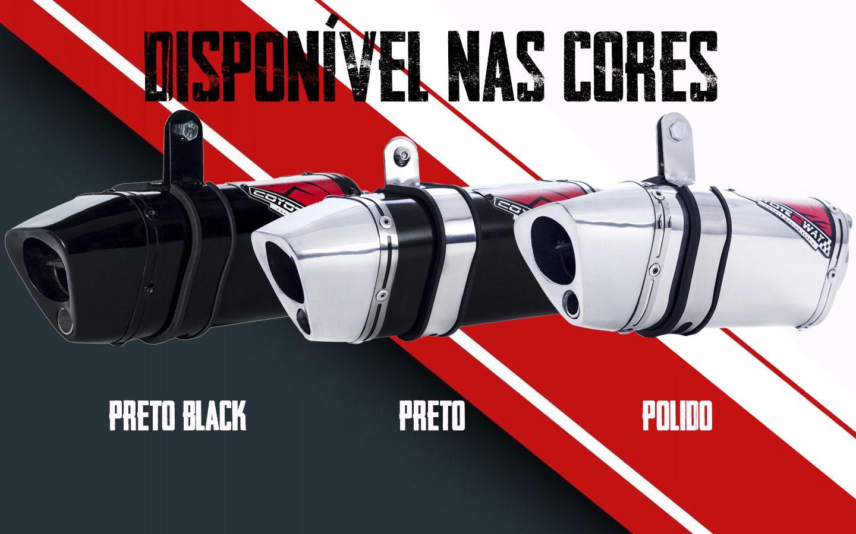 Escape / Ponteira Coyote TRS 2 Way + Mais JUNIOR 20cm em Alumínio - CG 160 Fan & Start até 2017 - Honda