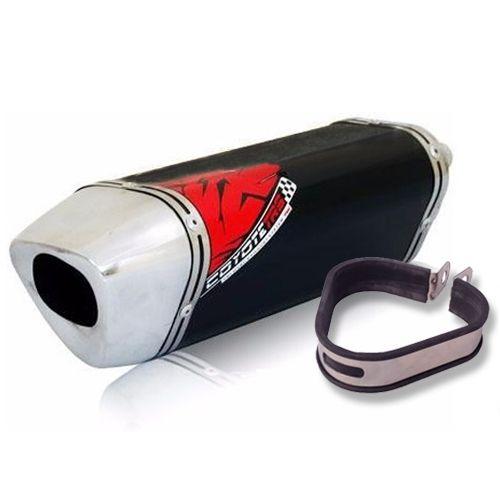 Escape / Ponteira Coyote TRS Tri-Oval Alumínio - CG 150 Titan / Fan ESDi/EX 2009 até 2013 - Honda