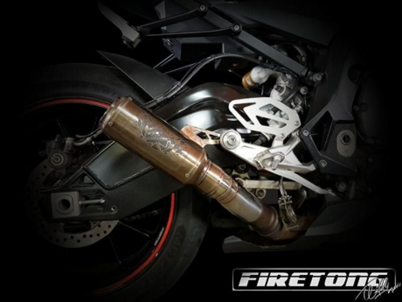 Escape / Ponteira Firetong Flame II em Inox - 636 ano 2013 até 2017 - Kawasaki