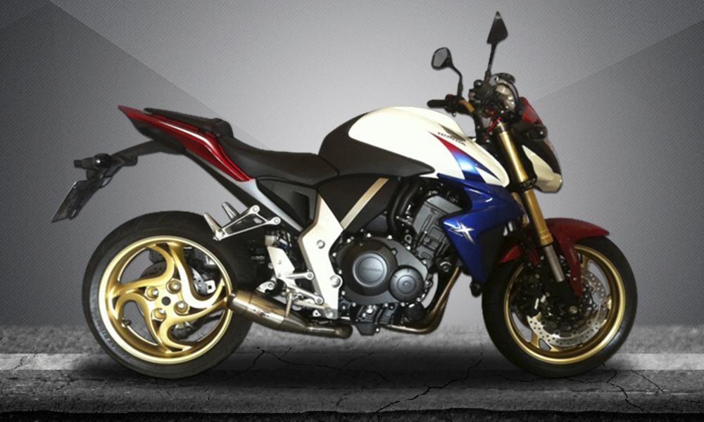 Escape / Ponteira Firetong Flame II em Inox - CB 1000 R - Honda