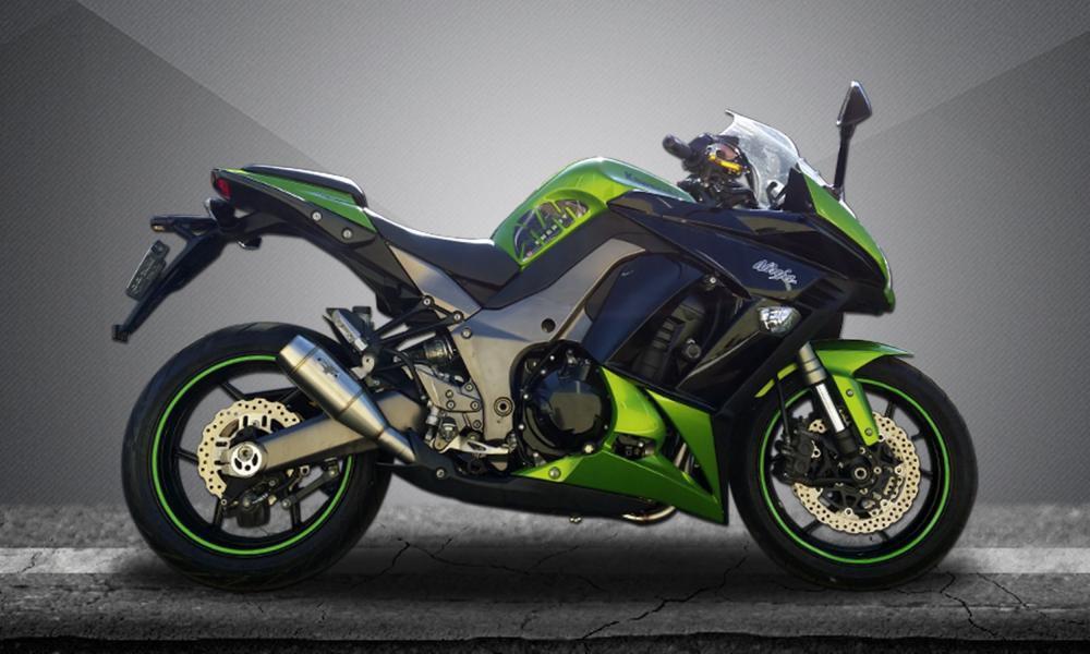 Escape / Ponteira Firetong Flame II em Inox - Ninja 1000 ano 2010 até 2014 - Kawasaki