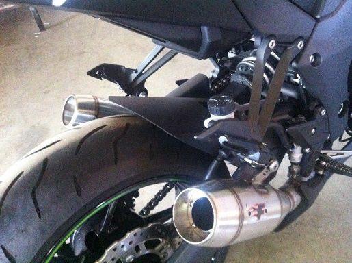 Escape / Ponteira Firetong Modelo Flame em Inox (PAR) - Ninja 1000 ano 2010 até 2014 - Kawasaki
