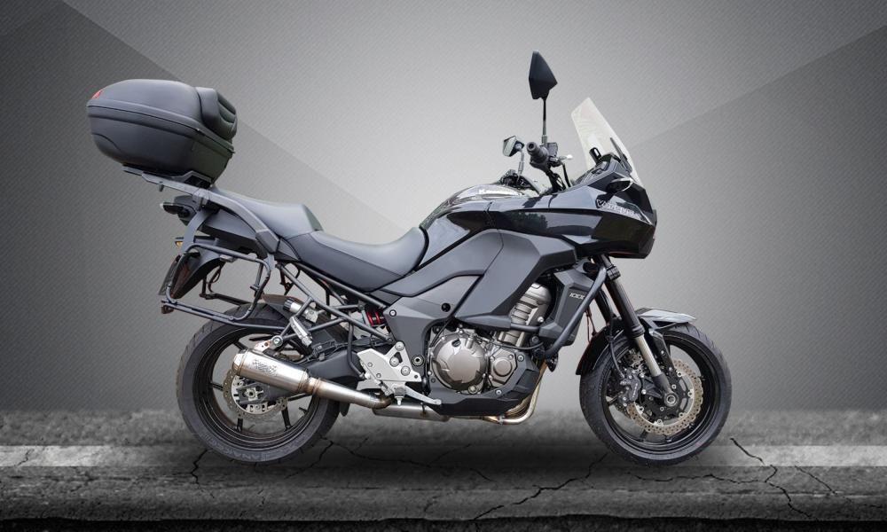 Escape / Ponteira Firetong Modelo Flame em Inox - Versys 1000 ano 2013 até 2018 - Kawasaki