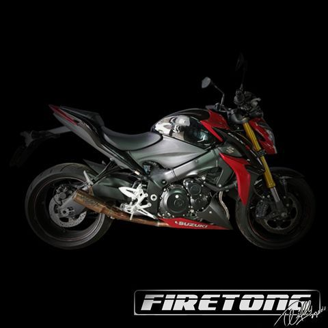 Escape / Ponteira Firetong Modelo Flame II em Inox - GSX-S 1000 (Naked) - Suzuki