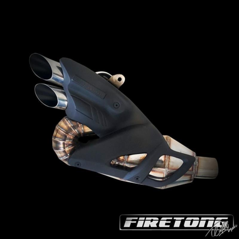 Escape / Ponteira Firetong Willy Made em Inox - Diavel ano 2011 em Diante - Ducati