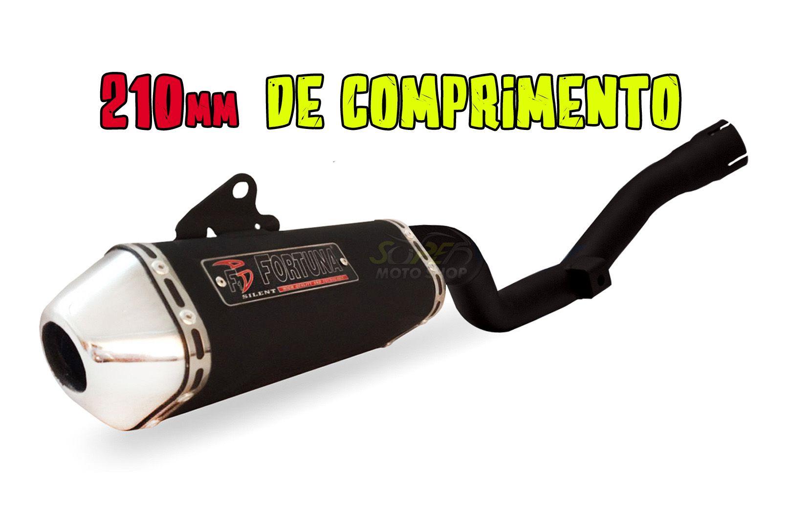 Escape / Ponteira Fortuna Modelo F1 MINI Tri 210mm - CRF 230 - Honda