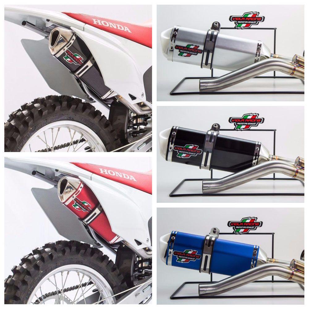 Escape / Ponteira Viola Racing  Modelo MS1/EX + Curva em Aço Inox - TTR 230 - Honda