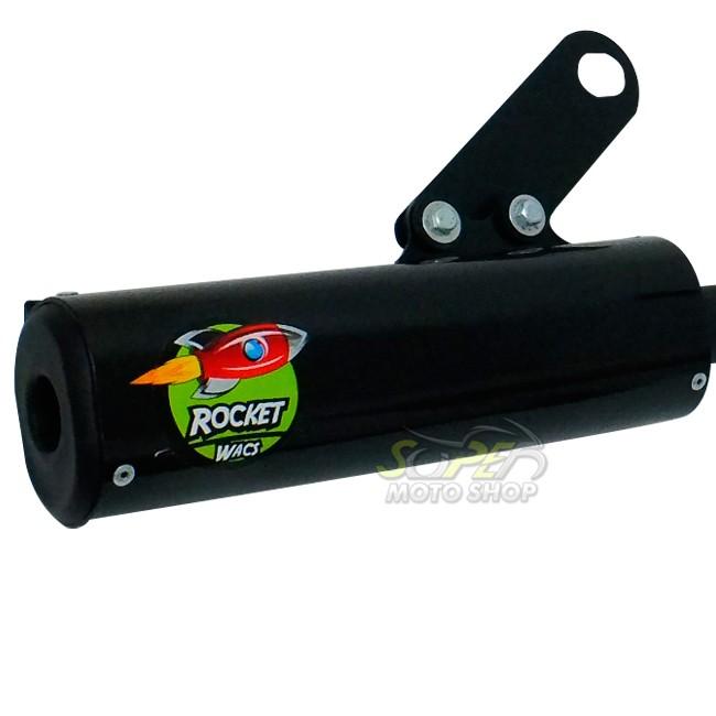 Escape / Ponteira Wacs Modelo Rocket Oval - Bros 160 NX-R - Honda