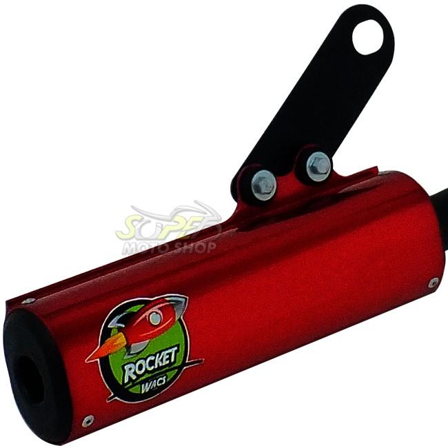 Escape / Ponteira Wacs Modelo Rocket Oval - CG 150 Titan / Fan ESD / EX ano 2009 até 2013 - Honda