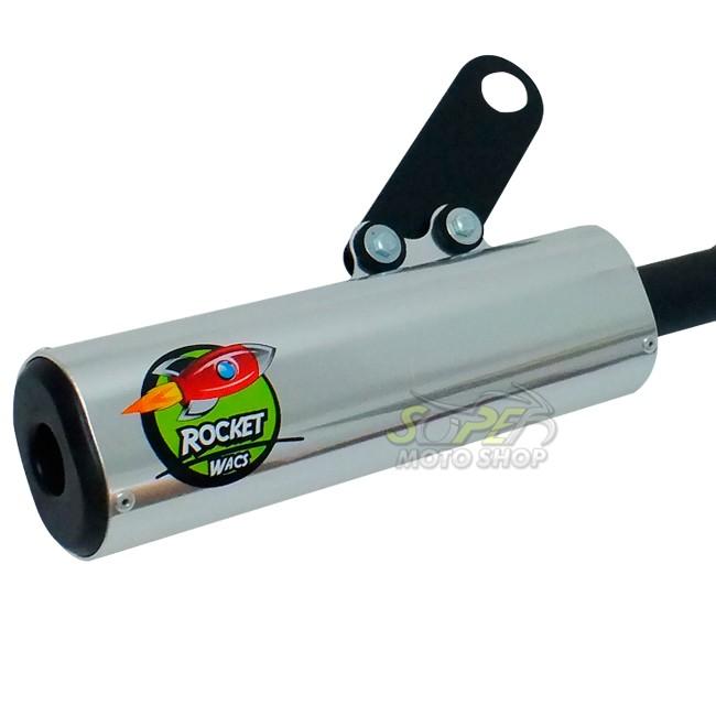 Escape / Ponteira Wacs Modelo Rocket Oval - XR 200 - Honda