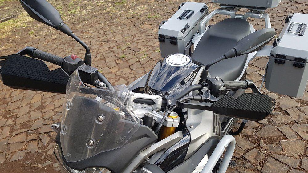 Kit Baú / Bauleto Alumínio Traseiro Top Case + Lateral Side Case + Suporte Para Baú de Alumínio Livi - G 310 GS - BMW