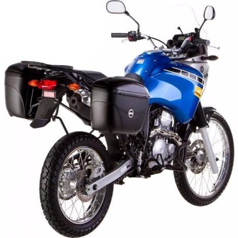Kit Baú / Bauleto Lateral Side Case GIVI Modelo E-21 (Par) + Suportes Chapam - Tenere 250 ano 2016 em Diante - Yamaha