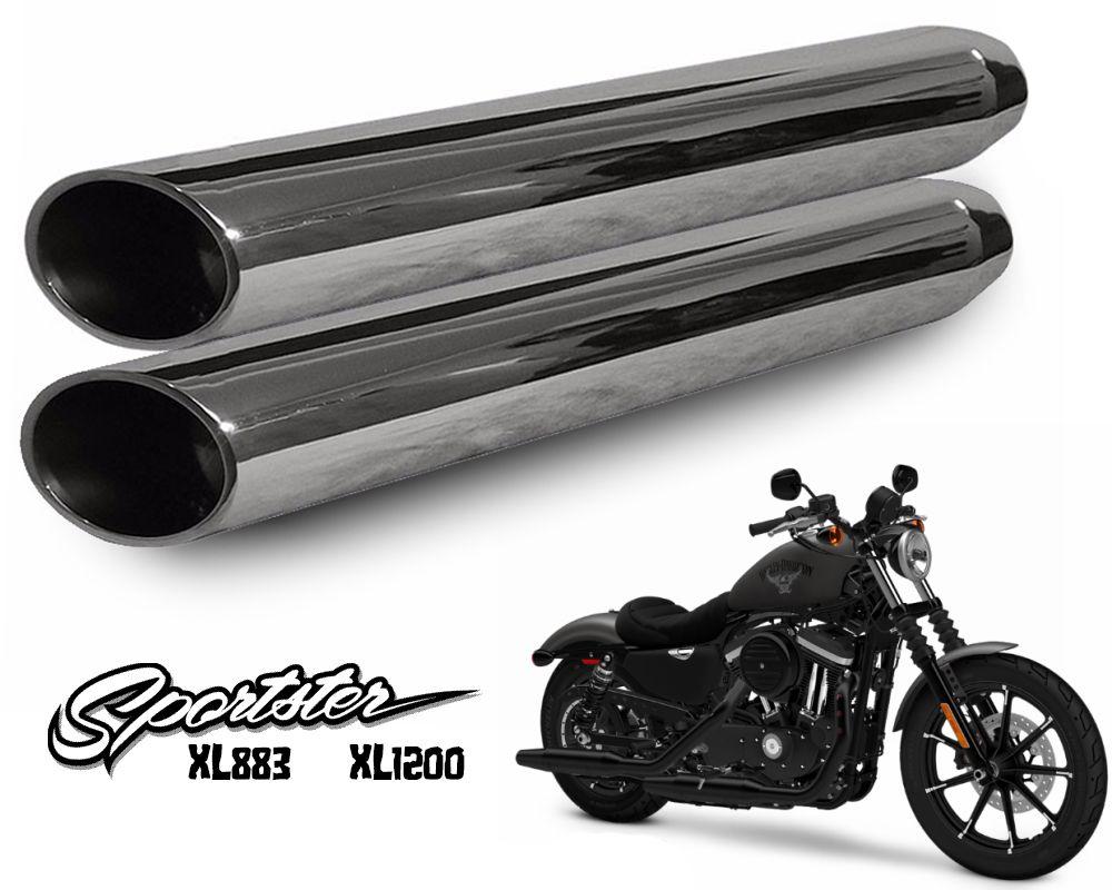 Ponteira Modelo Cobra Sport 3' Cromado - Sportster XL 883 / 1200 - Harley Davidson