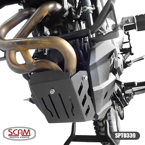 Protetor de Carter Scam Preto - Versys 300 - Kawasaki
