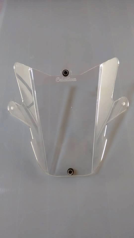 Protetor de Farol Criativa Acessórios Modelo Acrílico - Tenéré 660 Z ano 2012 até 2018 - Yamaha