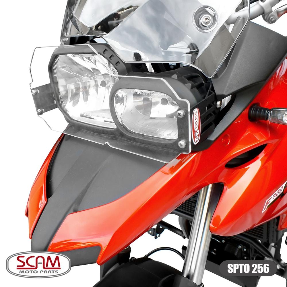 Protetor de Farol em Policarbonato Modelo Scam - F 800 R / F 800 GS & Adventure - BMW