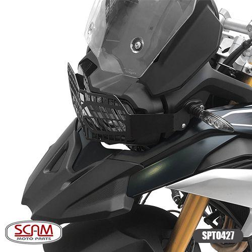 Protetor de Farol Scam em Chapa de Aço - F 750 GS / F 850 GS - BMW