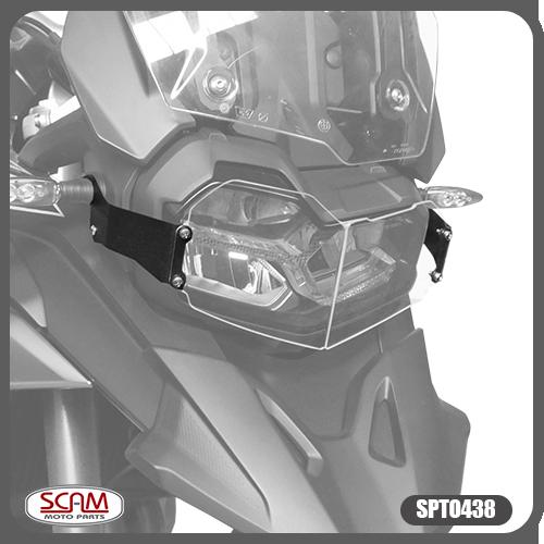 Protetor de Farol Scam em Policarbonato - F 750 GS / F 850 GS - BMW