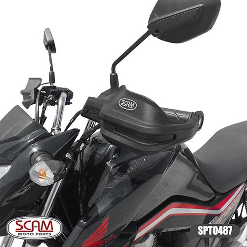 Protetor de Mão / Punho Modelo Scam - CG 125 / 150 / 160 Titan/Fan ano 2009 em diante - Honda