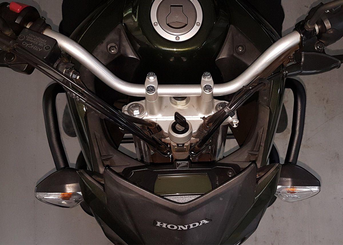 Protetor de Motor e Carenagem Coyote Preto Com Pedais - XRE 190 - Honda