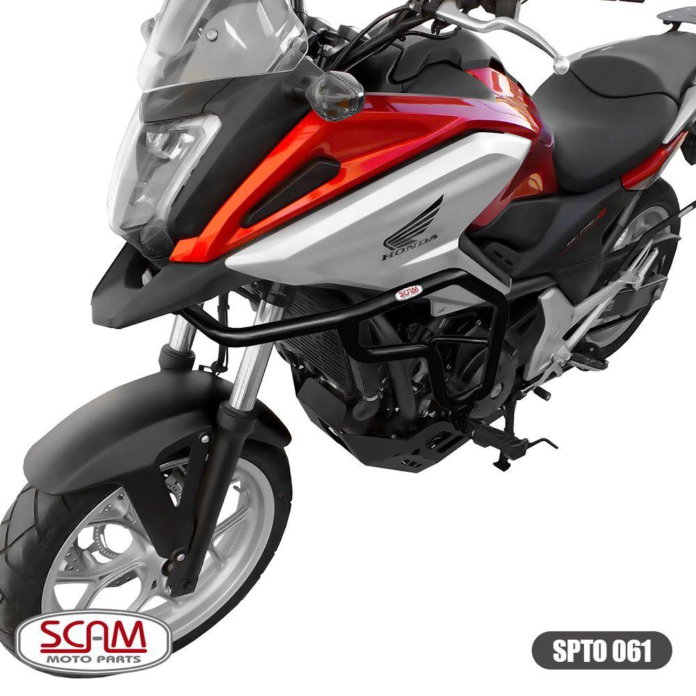 Protetor de Motor e Carenagem Scam com Pedaleira Preto - NC 700 / 750 X Todos os Anos - Honda