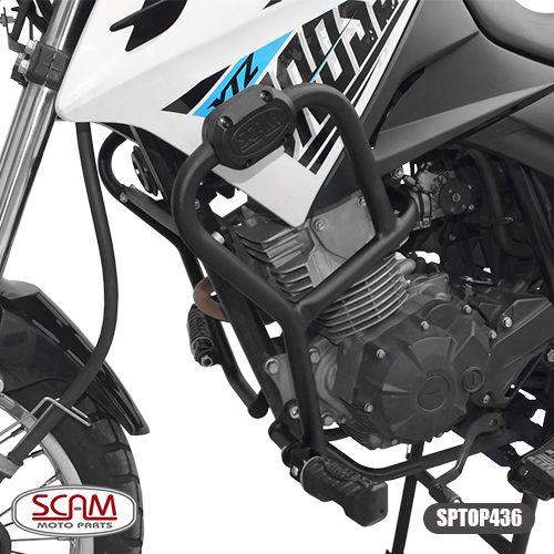 Protetor de Motor / Carenagem Scam Com Pedaleira - Crosser XTZ 150 - Yamaha