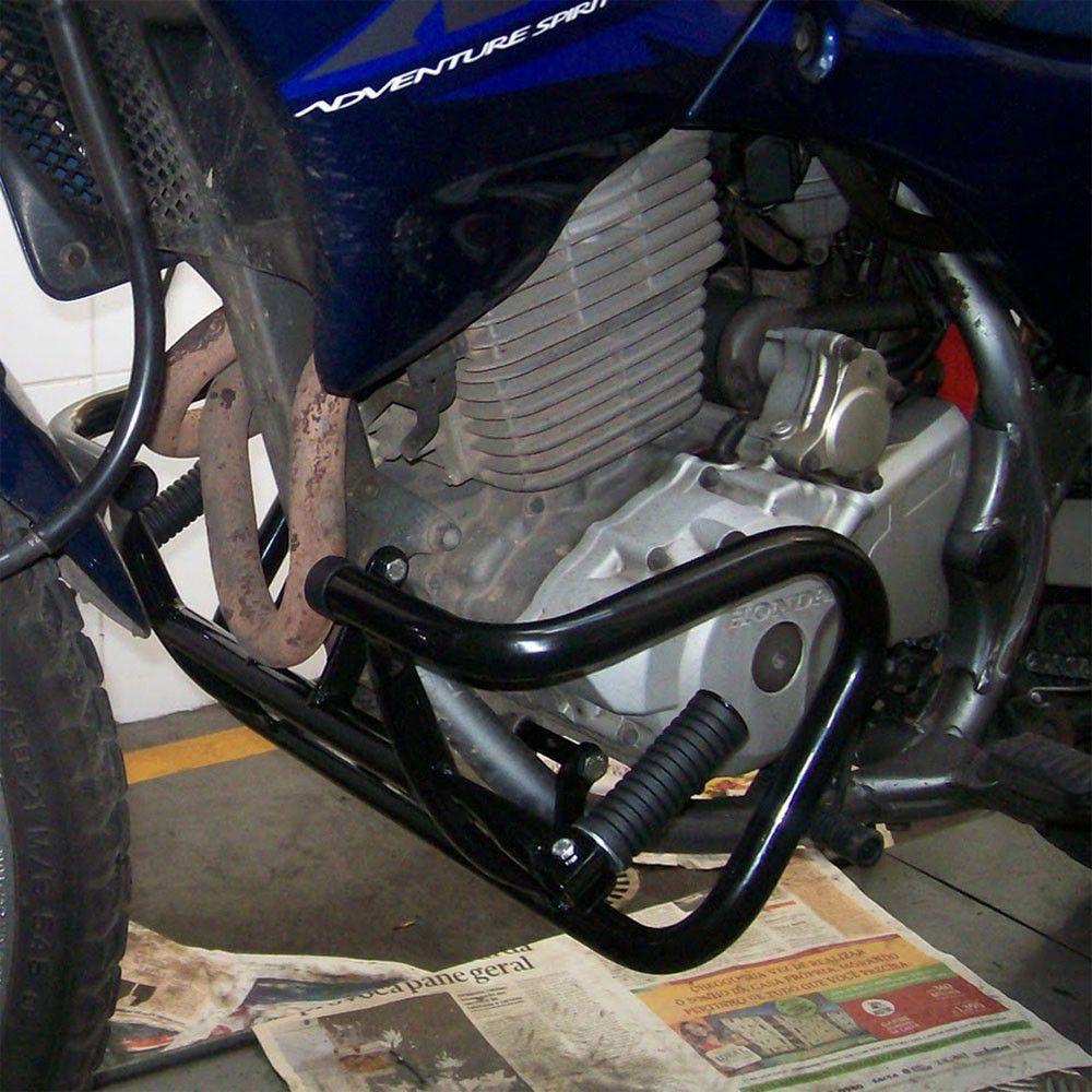 Protetor de Motor / Mata Cachorro Chapam Modelo Way Com Pedaleiras - Falcon NX 400 Todos os Anos - Honda
