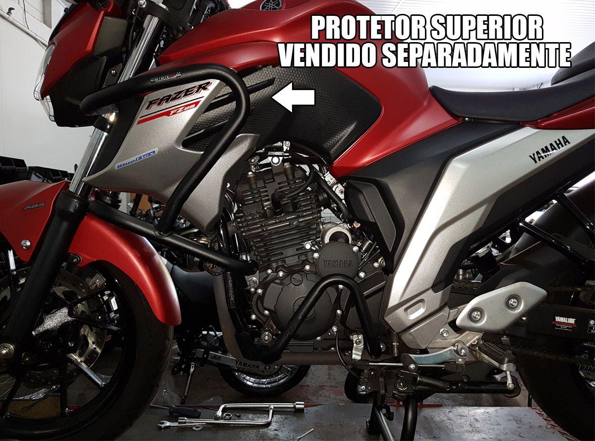 Protetor de Motor / Mata Cachorro Coyote Modelo Inferior (Baixo) - Fazer 250 ano 2018 em Diante - Yamaha