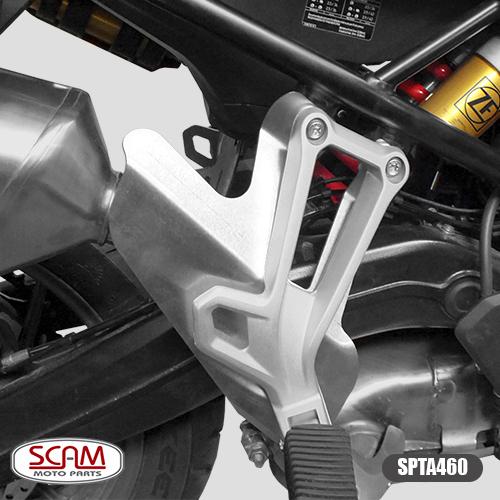 Protetor de Perna para Garupa Modelo Scam Preto - F 750 GS / F 850 GS Adventure / Premium / Rallye - BMW