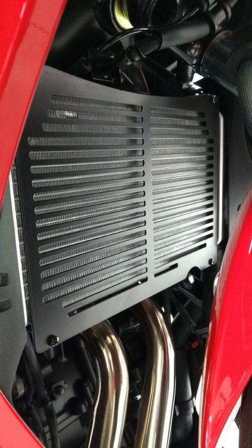 Protetor de Radiador Modelo Start Racing em Aço Preto - CBR 500 R - Honda