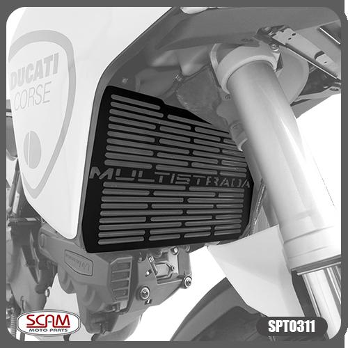 Protetor de Radiador Scam Preto - Multistrada 950 / 1200 / Enduro / 1260 - Ducati