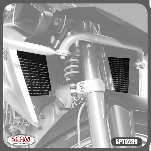 Protetor de Radiador Scam Preto (Par) - R 1250 GS ano 2019 em Diante - BMW