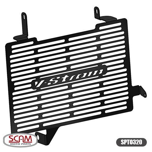 Protetor de Radiador Scam Preto - V-Strom DL 650 2014 até 2018 - Suzuki