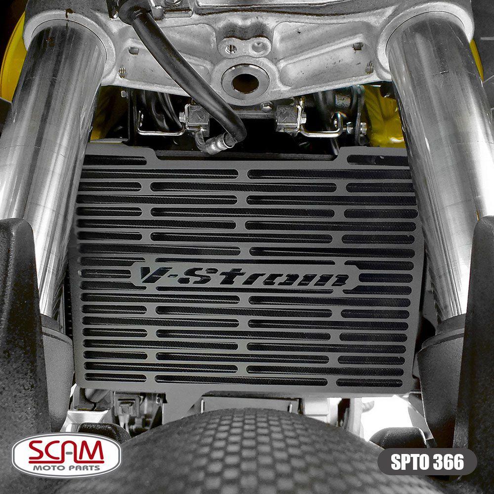 Protetor de Radiador Scam Preto - V-Strom DL 650 ano 2019 em Diante - Suzuki
