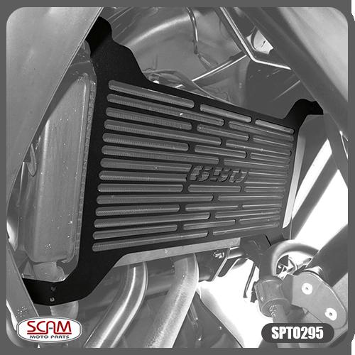 Protetor de Radiador Scam Preto - Versys 650 / Tourer ano 2015 em Diante - Kawasaki