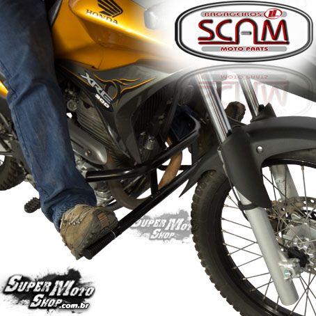 Protetor Motor Mata Cachorro Scam Com Pedaleiras - Xre 300 - Honda