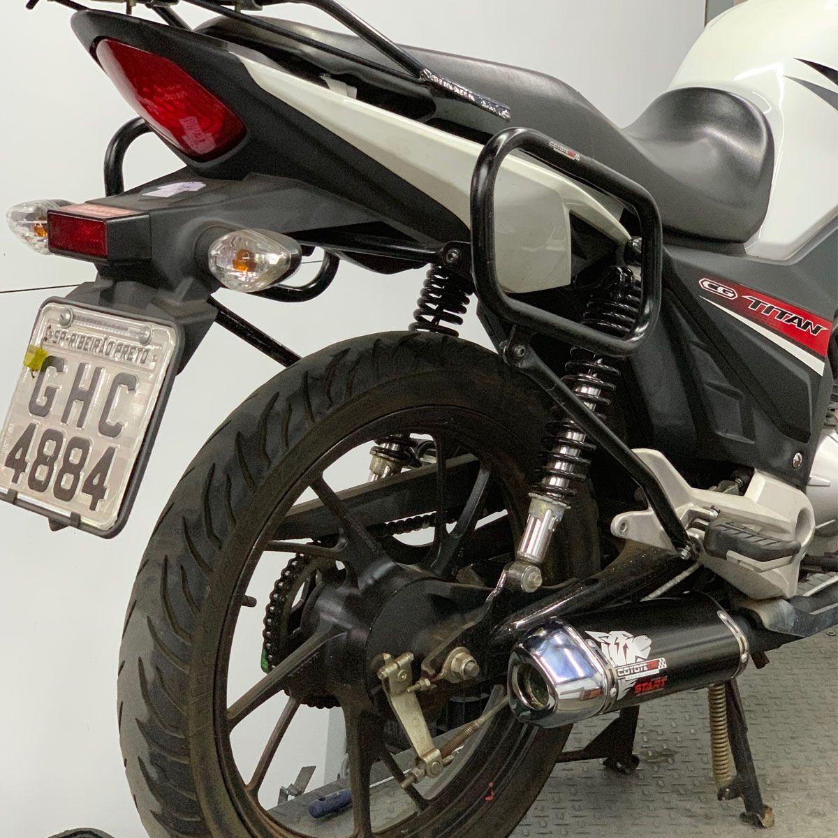 Protetor Traseiro / Apoio p/ Bolsas Laterais Modelo Coyote - CG 160 Titan - Honda