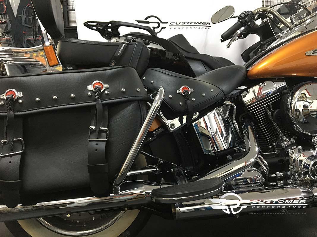 Protetor Traseiro / Mata Gato Tubular Modelo Customer Cromado - HD Softail Heritage - Harley Davidson