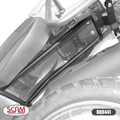 Reforço de Quadro Scam em Aço Preto - Lander 250 ABS 2019 em diante - Yamaha