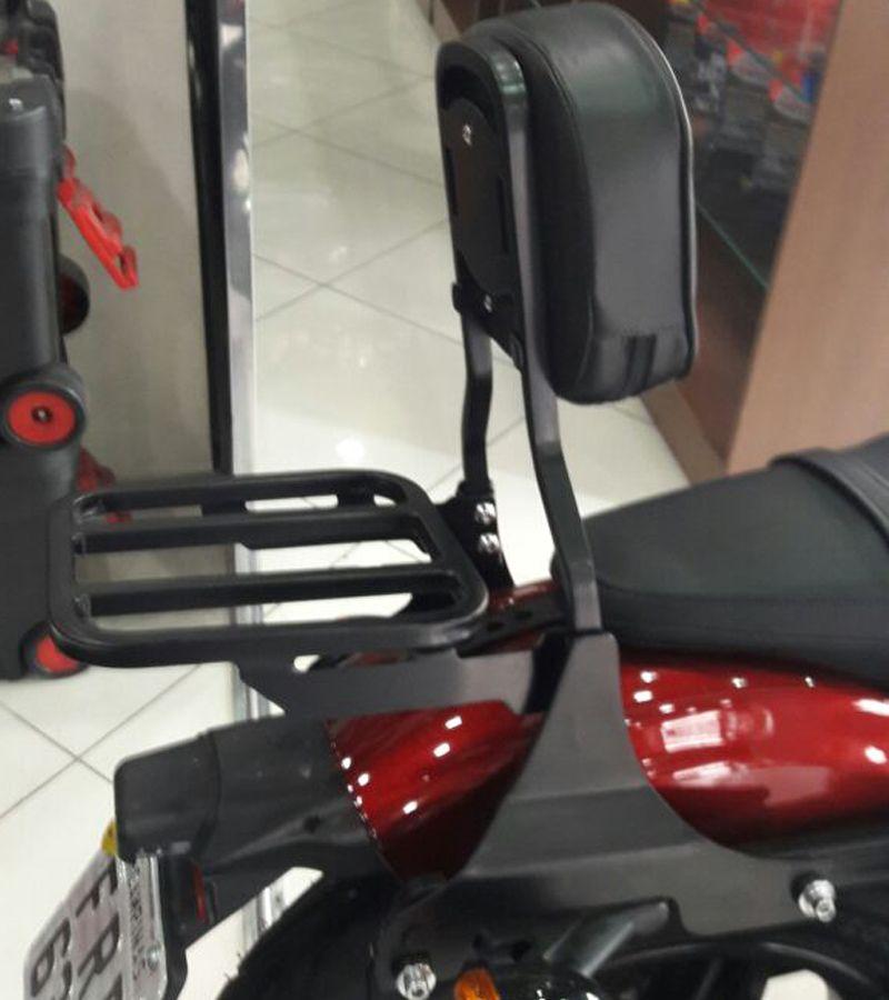 Sissy Bar / Encosto c/ Bagageiro Modelo Rasante - HD Sportster Roadster 1200 - Harley Davidson