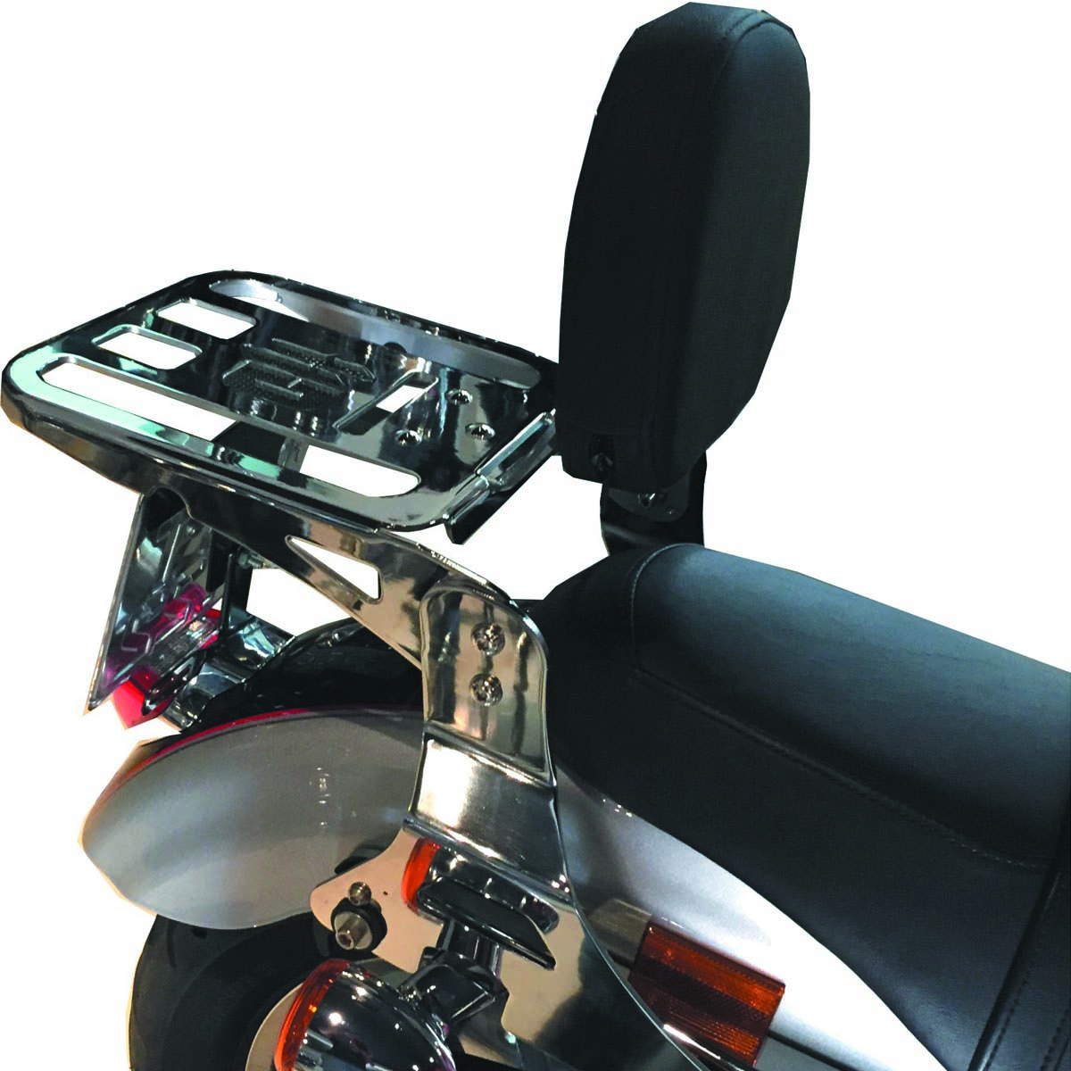 Sissy Bar / Encosto Destacável Modelo Low com Bagageiro - HD Softail Heritage / Deluxe até 2017 - Harley Davidson