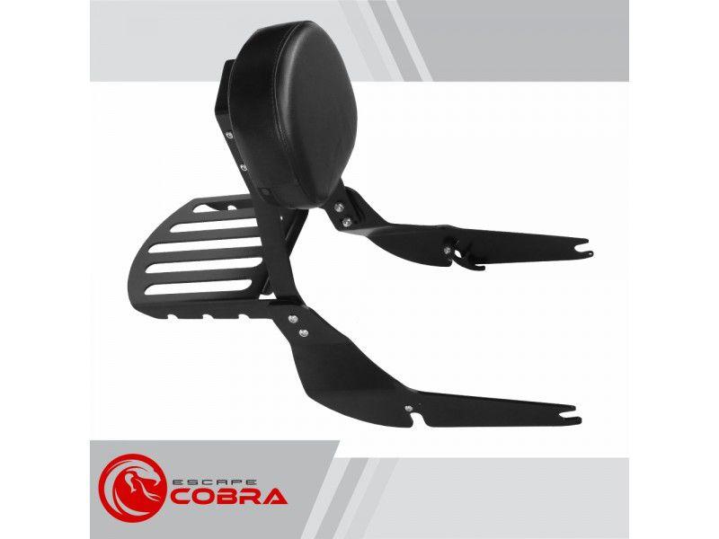 Sissy Bar / Encosto Engate Rapido c/ Bagageiro Cobra - Shadow 750 ano 2011 em Diante - Honda