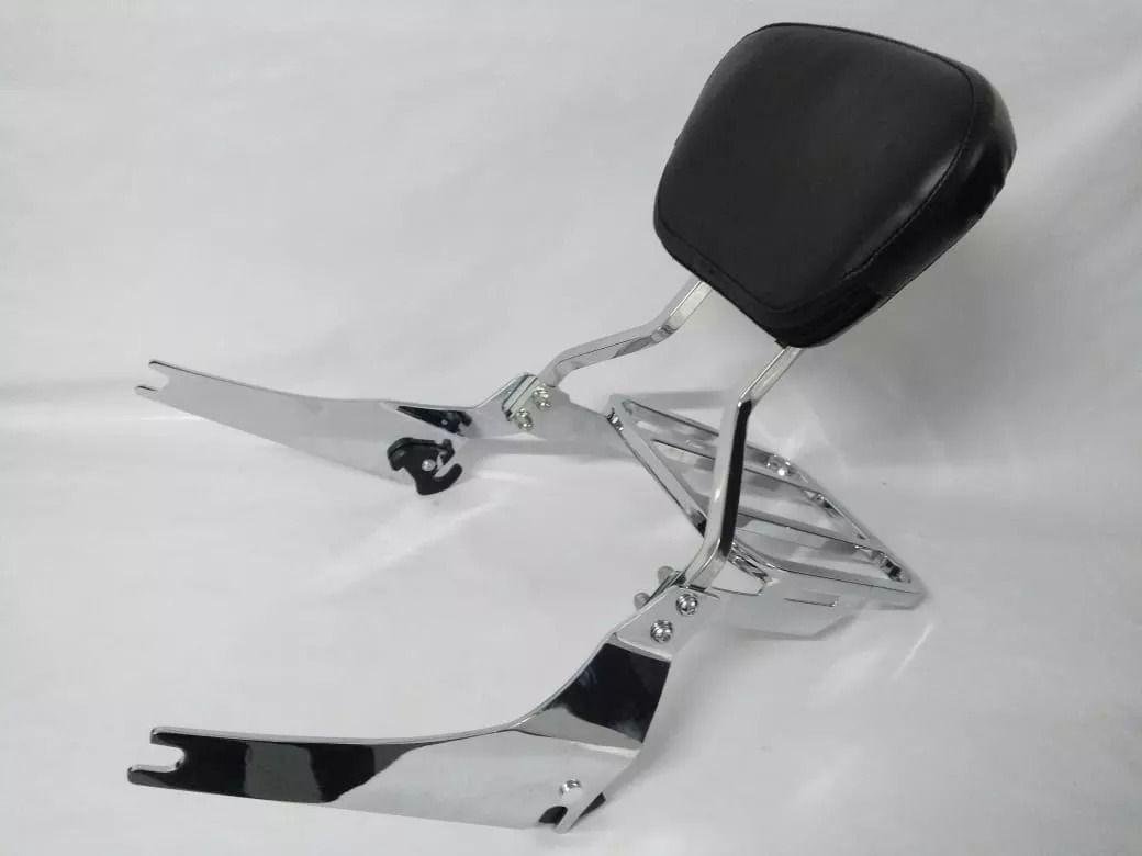 Sissy Bar / Encosto Removível c/ Bagageiro Modelo Rasante - Softail Fat Boy até 2017 - Harley Davidson