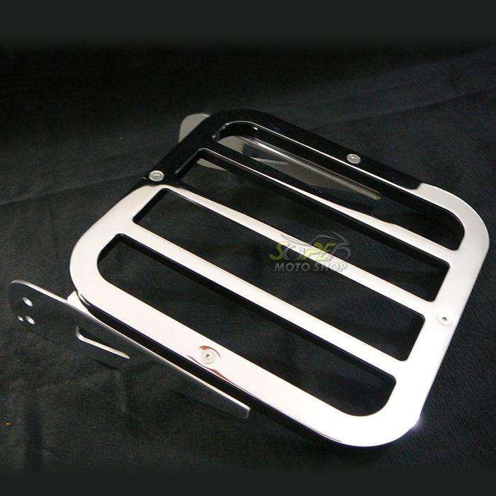 Sissy Bar / Encosto Traseiro JMX Engate Rápido com Bagageiro Tubular - HD Sportster Roadster - Harley Davidson