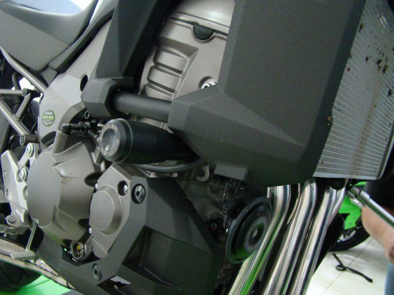 Slider Dianteiro Anker Anodizado - Versys 1000 ano 2012 em Diante - Kawasaki