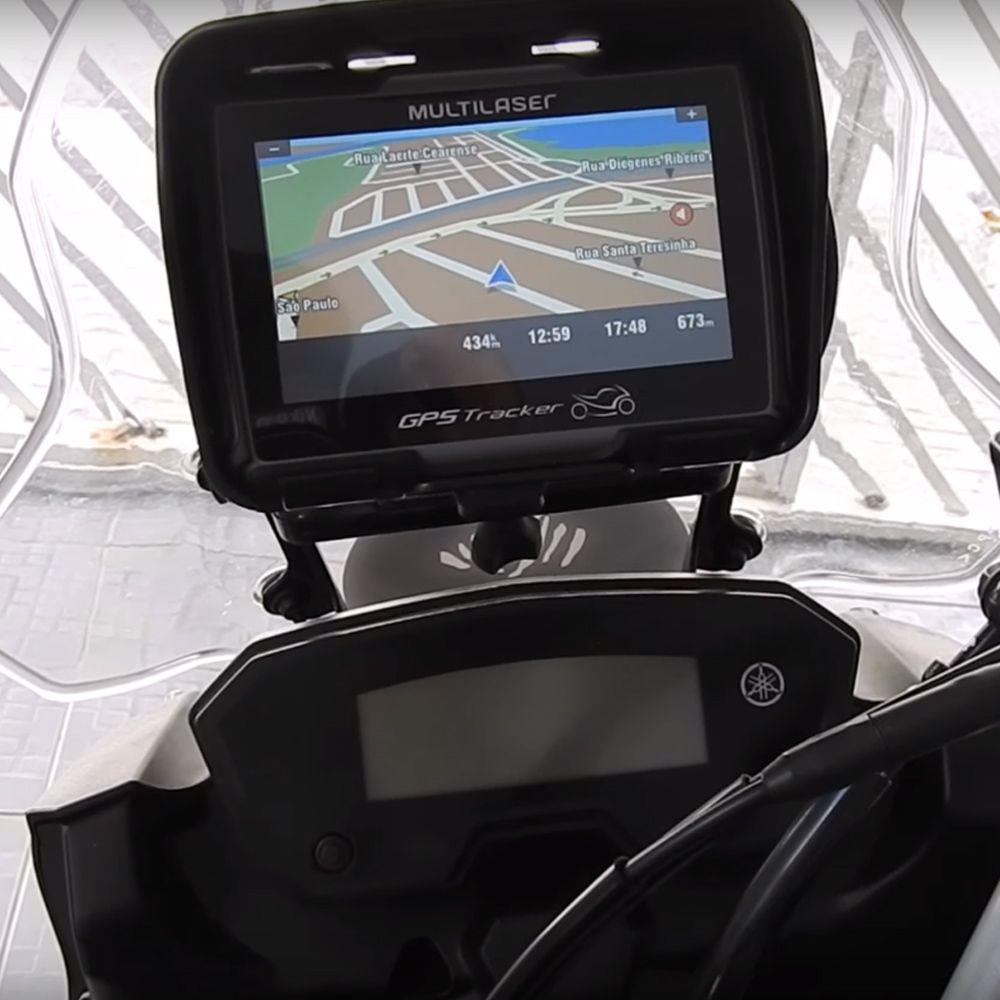 Suporte / Alça para GPS Modelo Coyote - Tenere 250 - Yamaha